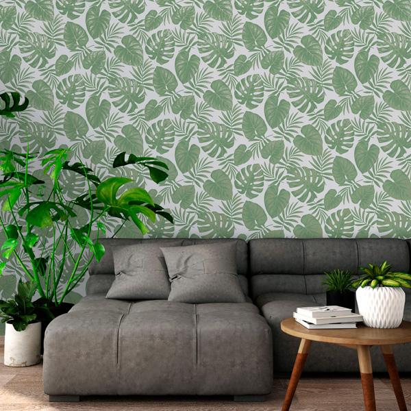 Papel de parede folhas de antúrios