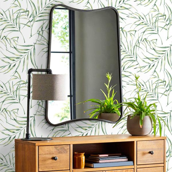 papel de parede folhagens tropicais