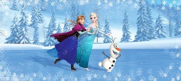 painel panorâmico Frozen