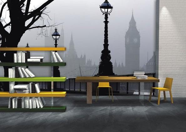 Painel decorativo Londres em preto e branco