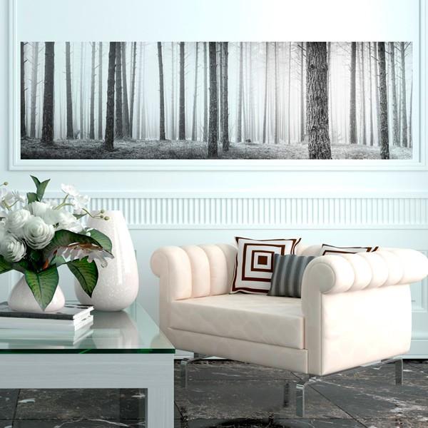 painel bosque preto e branco