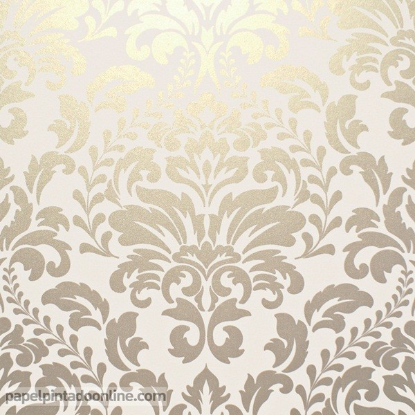 papel de parede dourado medalhões