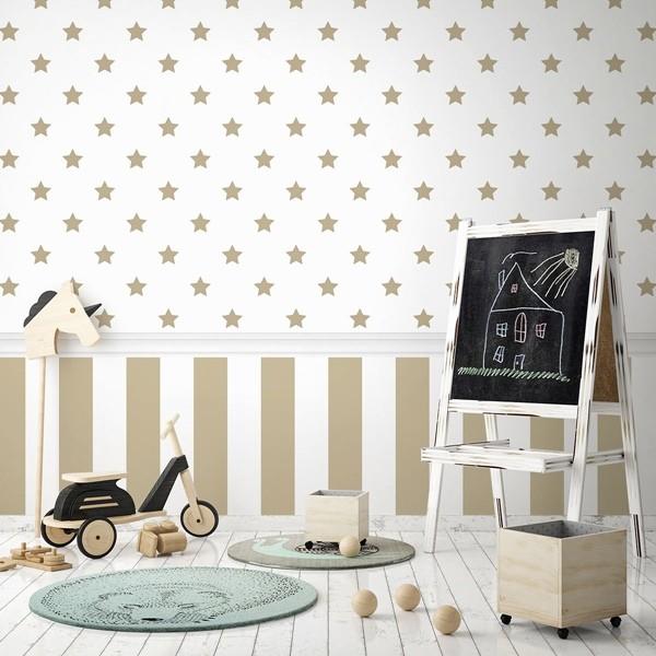papel de parede estrelas douradas