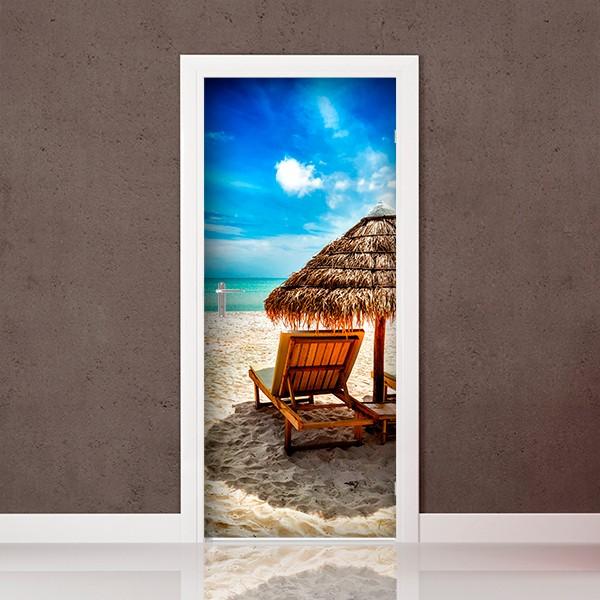 vinil para porta praia