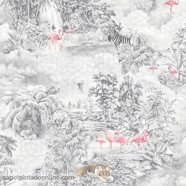papel de parede selva e animais