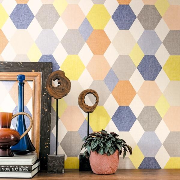 papel de parede swing geométrico colorido