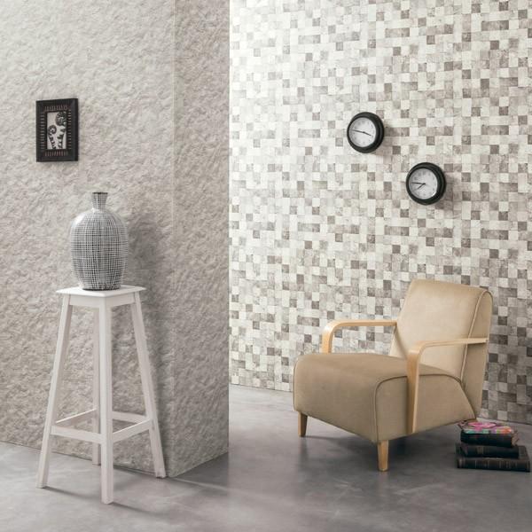 Papel de parede pedra quadriculada