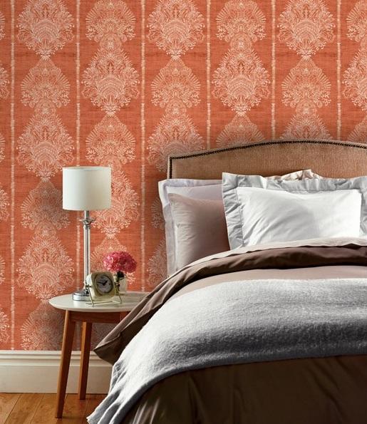 Papel de parede Ornamental journeys cor laranja