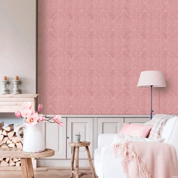 Papel de parede ornamental desgastado rosa