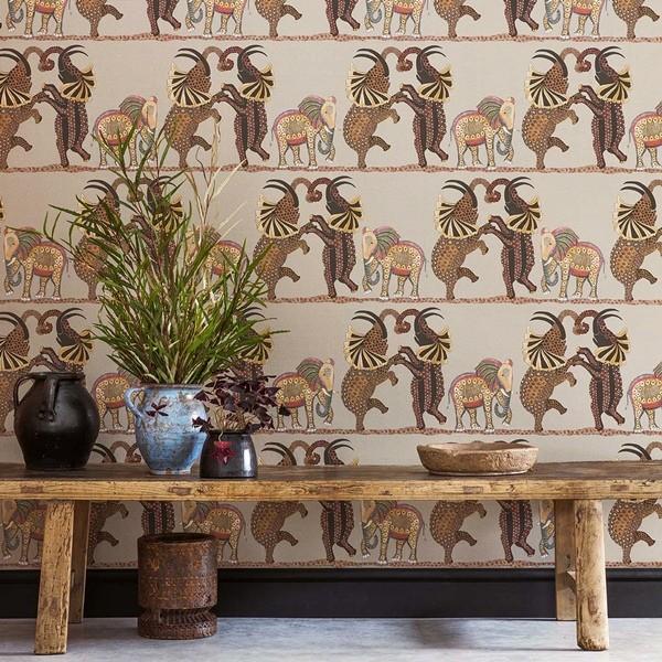 Papel de parede elefante estilizados