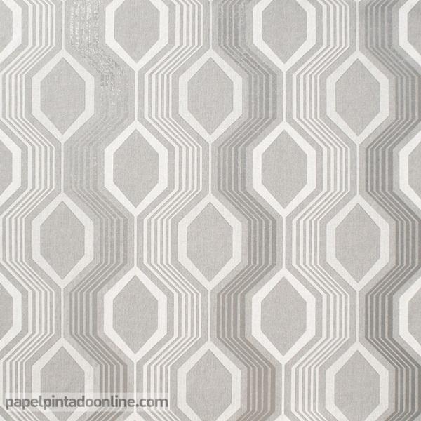 papel de parede geométrico hexagonal