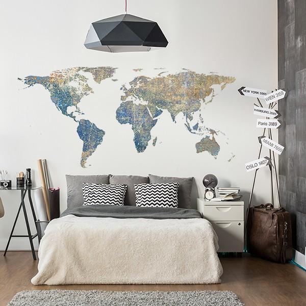 Vinilo mapa mundo