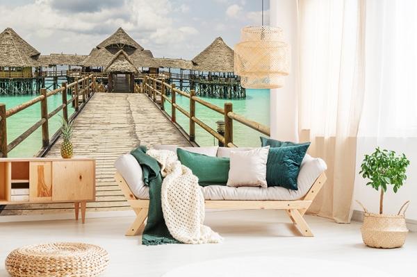 Painel paisagem praia exótica