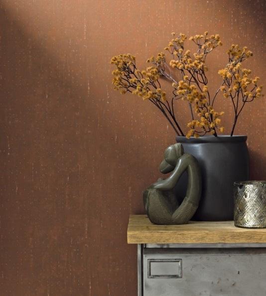 papel de parede imitação concreto cor alaranjada