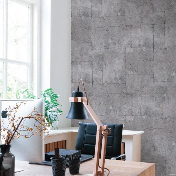 papel de parede blocos cimento