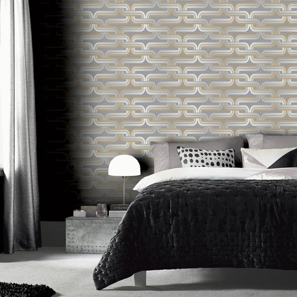 papel de parede efeito visual geométrico