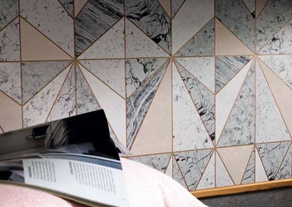papel de parede para cozinha imitação mármore