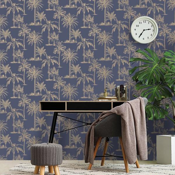 papel de parede natureza palmeira dourada