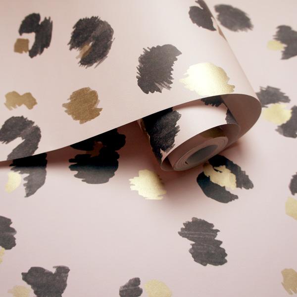 papel de parede animal print fundo rosa