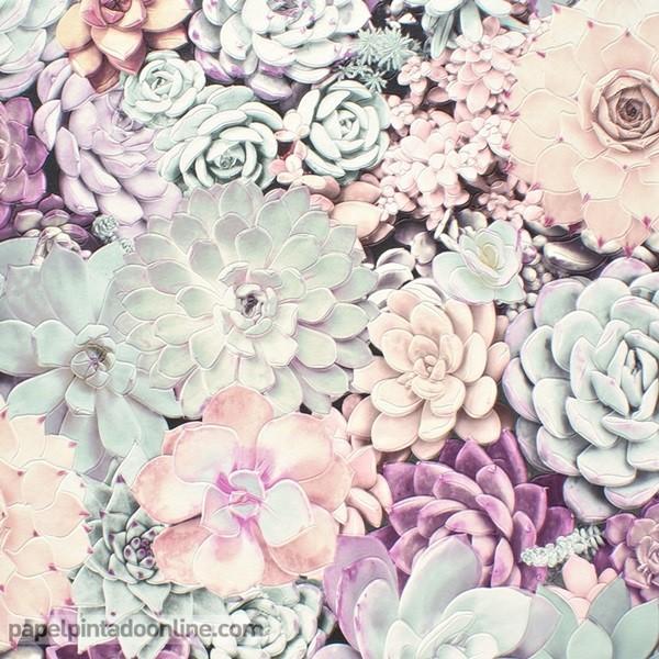 papel de parede texturizado floral