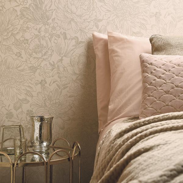 papel de parede floral bakau rosa suve