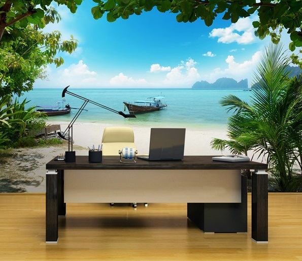 painel decorativo praia tropical