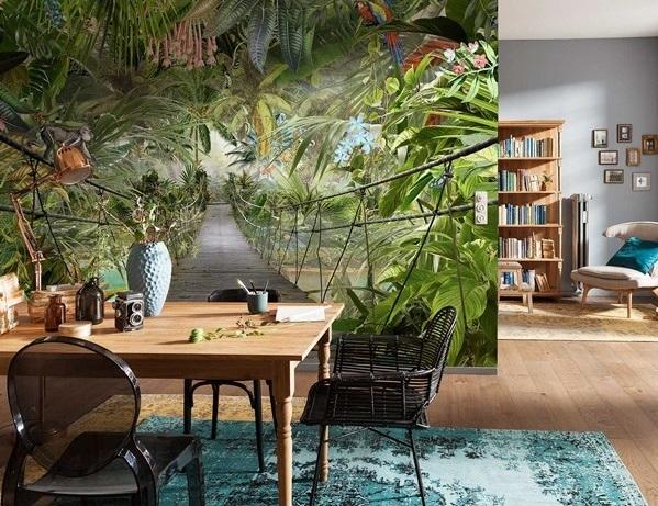 painel para parede selva tropical
