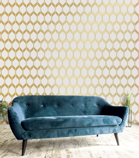 papel de parede amazzonia vinilico com dourado