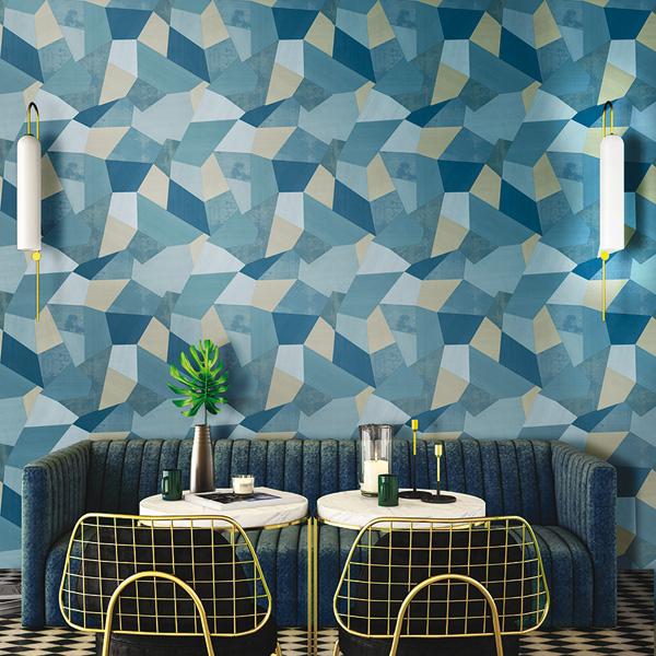 papel de parede vinílico geométrico abstrato