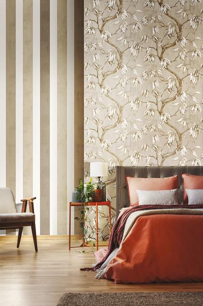 papel de parede vinílico floral