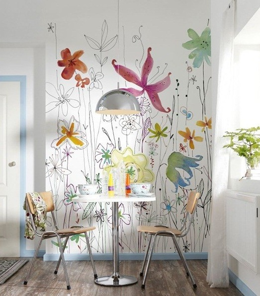 painel decorativo floral