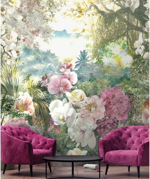 mural floral e natureza