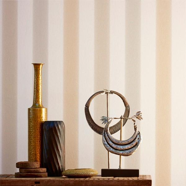 papel de parede riscas cor beige amazilia