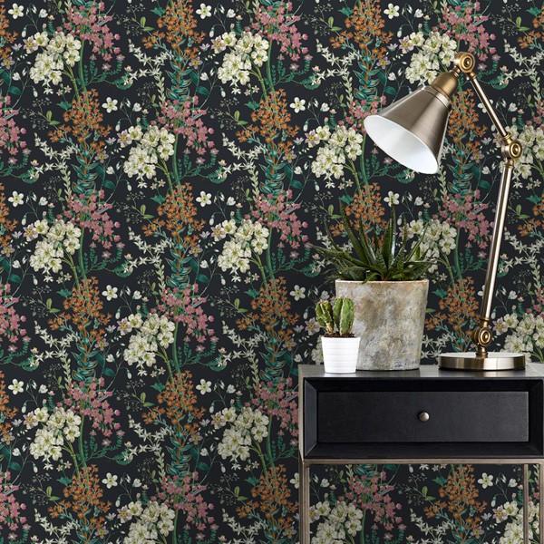 papel de parede floral