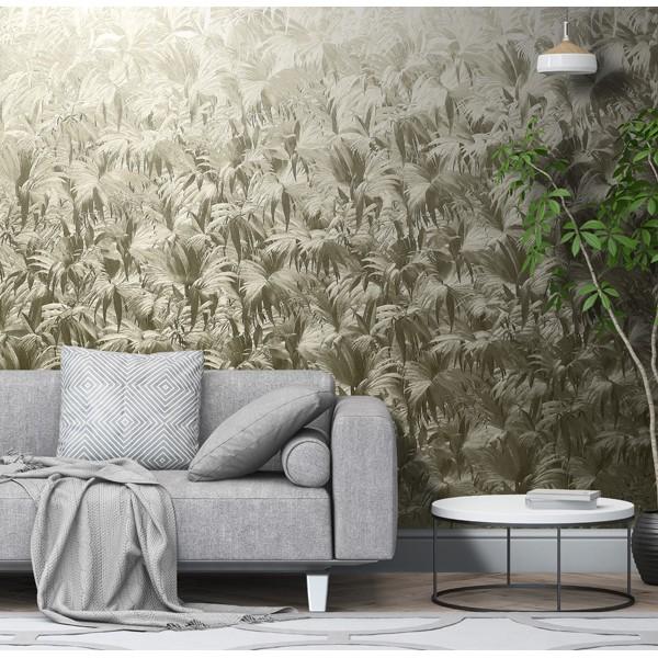 papel de parede metalizado dourado